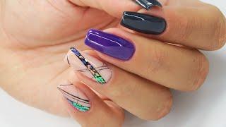 Glass effect strip / Sunflower Professional Gelaq #glasseffectnails