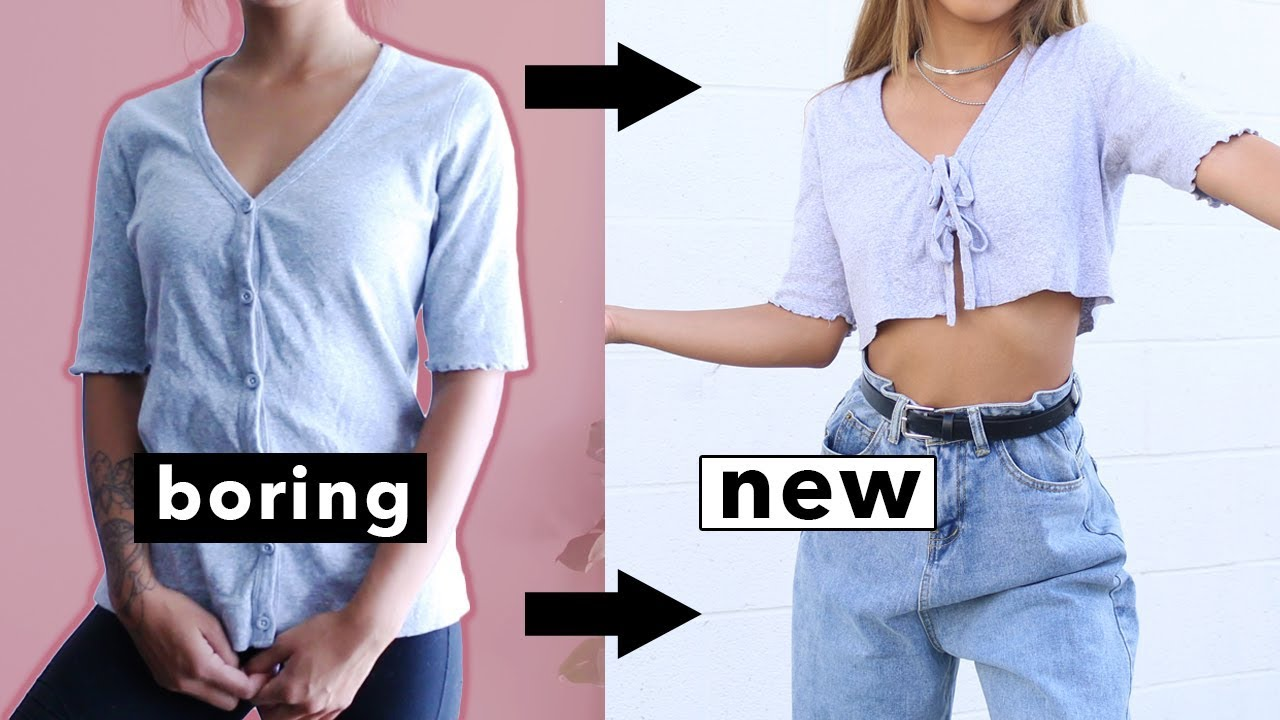 [VIDEO] - DIY NO-SEW HACKS FALL EDITION | Transforming Old Boring Clothes! 8