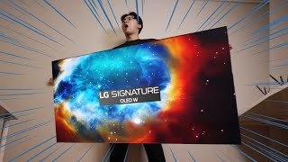 [Eng Sub] Thin like Paper, $18,000 valued TV!! [LG Signature OLED TV] Review - 6 months later!!