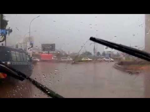 Driving through rain,Kampala,Uganda