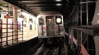 ニューヨーク市地鉄 タイムズスクエア駅 シャトル列車4番ホーム