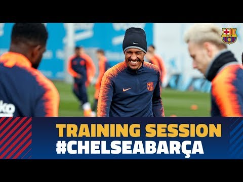 Barça are preparing for the Champions League match against Chelsea