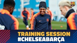 Baixar Barça are preparing for the Champions League match against Chelsea
