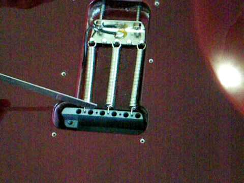 Angel Sanchez Stratocaster Standard: Part 5 of 10 Upgrading Tremolo Block