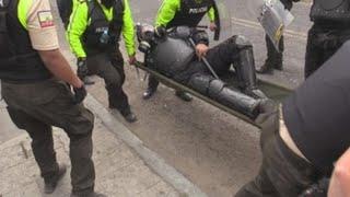 Parlamento de Ecuador se vuelve escenario de una batalla entre autoridades y manifestantes