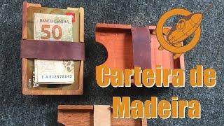 Carteira de madeira reciclada na cnc caseira - A arte da marcenaria moderna