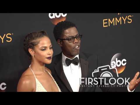 Chris Rock, Megalyn Echikunwoke arriving at the 2016 EMMY Awards