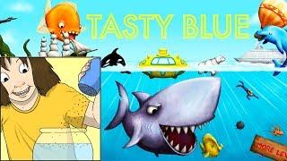 МОРСКИЕ ЖИВОТНЫЕ против МАЛЕНЬКОЙ РЫБКИ TASTY BLUE #1 веселое ВИДЕО ДЛЯ ДЕТЕЙ как мультик kids games