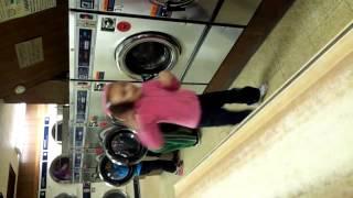 Kids harlem shake laundry mat