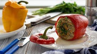 Фаршированный перец с мясом и рисом / Вкусный рецепт!