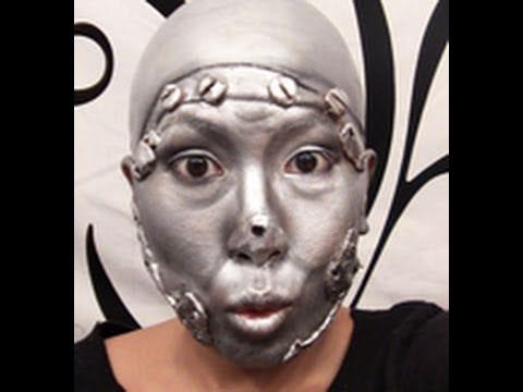 Halloween Makeup - Wizard of Oz Tin Man Tutorial - YouTube
