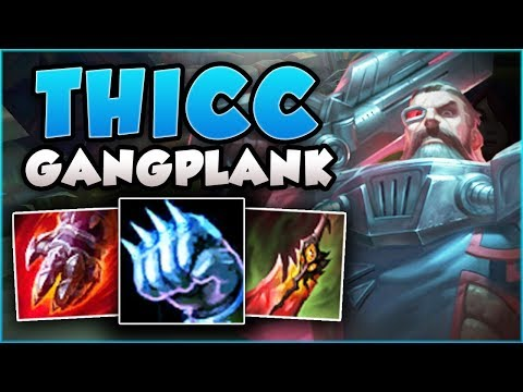 NEW GP BUILD THAT'S CRUSHING CHALLENGER GAMES! THICC GANGPLANK TOP S8 GAMEPLAY! - League of Legends