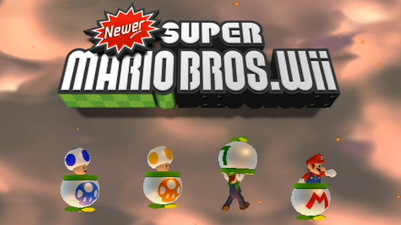 Newer Super Mario Bros Wii All Title Screens Youtube