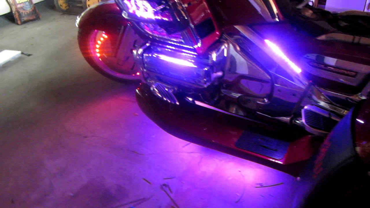 Honda Goldwing Led Lights Youtube