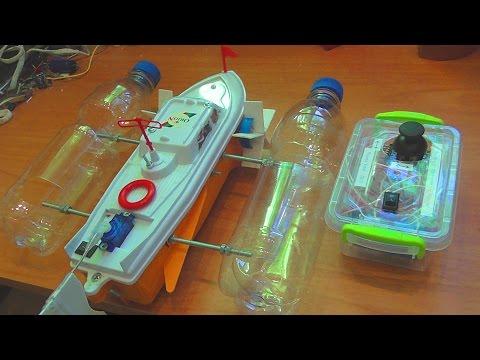 видео: Как сделать радиоуправляемый кораблик