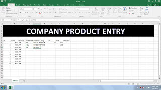 Lesson - 02 Data Entry For Job In Excel In Hindi [ Company Product Entry ]