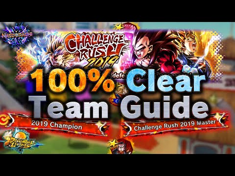 Challenge Rush 2019 - 100% Clear Team Guide For All 12 Stages - Dragon Ball Legends