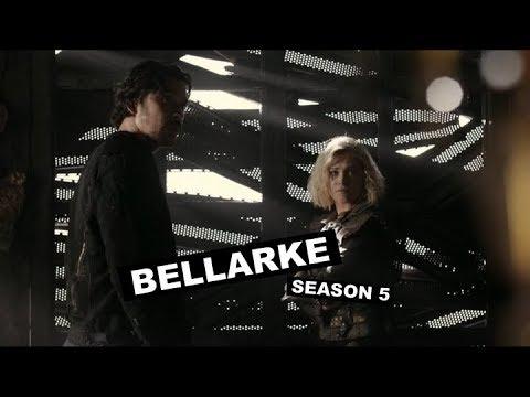 The 100 - All Bellarke Scenes / Season 5