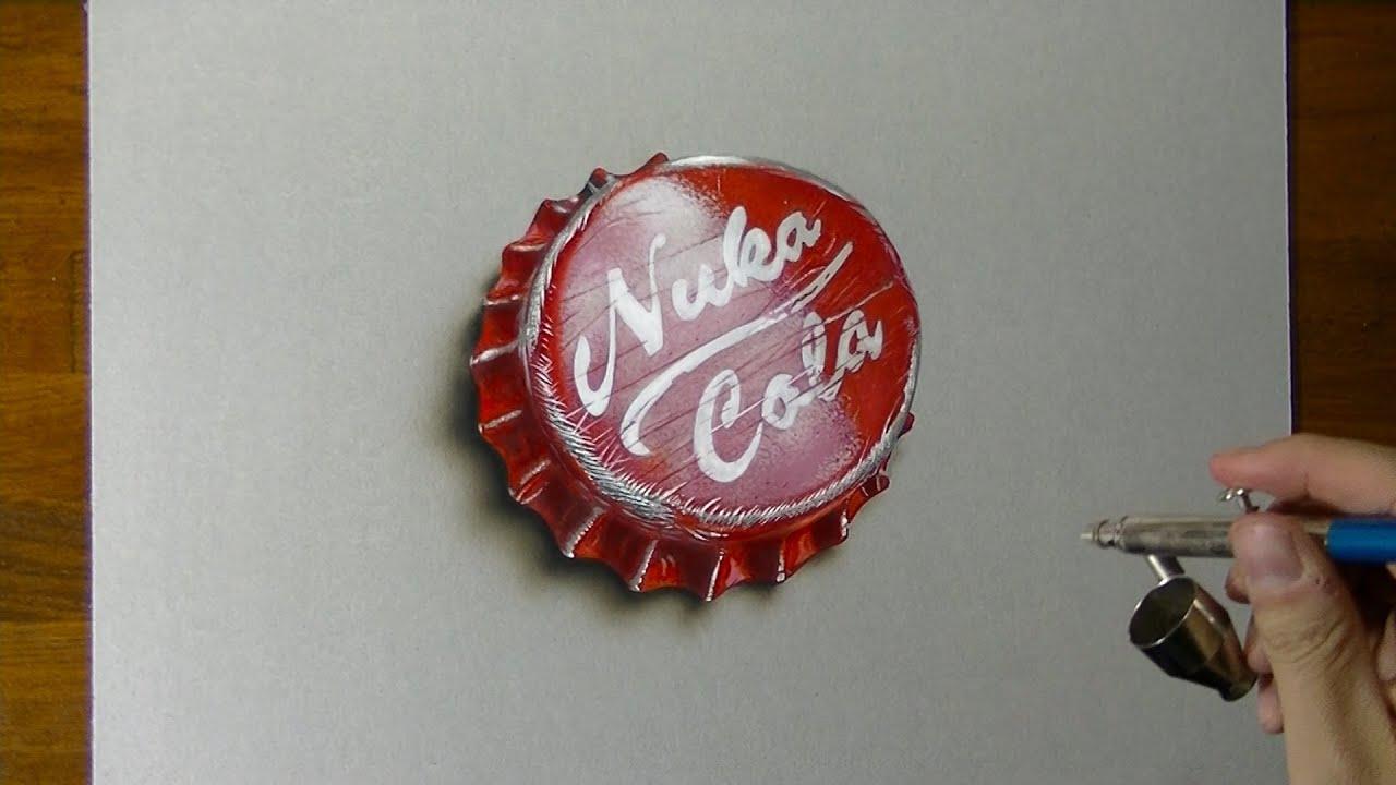 fallout 4 nuka cola bottlecap drawing youtube