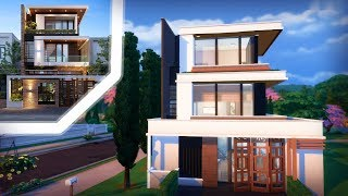 THE SIMS 4 COOL MODERN HOME | Speed Build