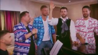 James Corden and Gary Barlow sing along on A League of Their Own   Christmas Special 2016