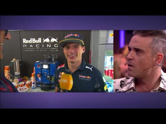 Robbie Williams Max Verstappen Formula 1 - RTL LATE NIGHT