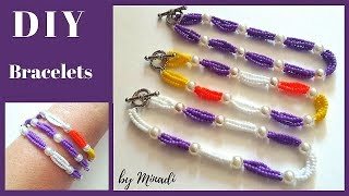 Beginner Bracelet Tutorial. DIY beaded bracelets-simple and elegant