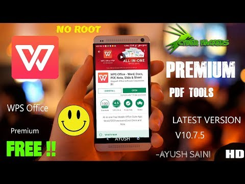 WPS Office Premium V10.7.5 | FREE | PDF Tools | Android | Hacked