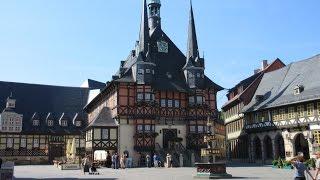 Deutschland Harz ein Rundgang durch Wernigerode Centrum Sachsen-Anhalt