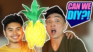 CAN WE DIY?! | PINEAPPLE SPOON LAMP?!