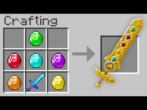 Minecraft, But You Can Craft An Infinity Sword…