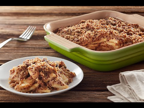 Gluten-Free Apple Crisp with Red Quinoa Streusel by NOW Foods