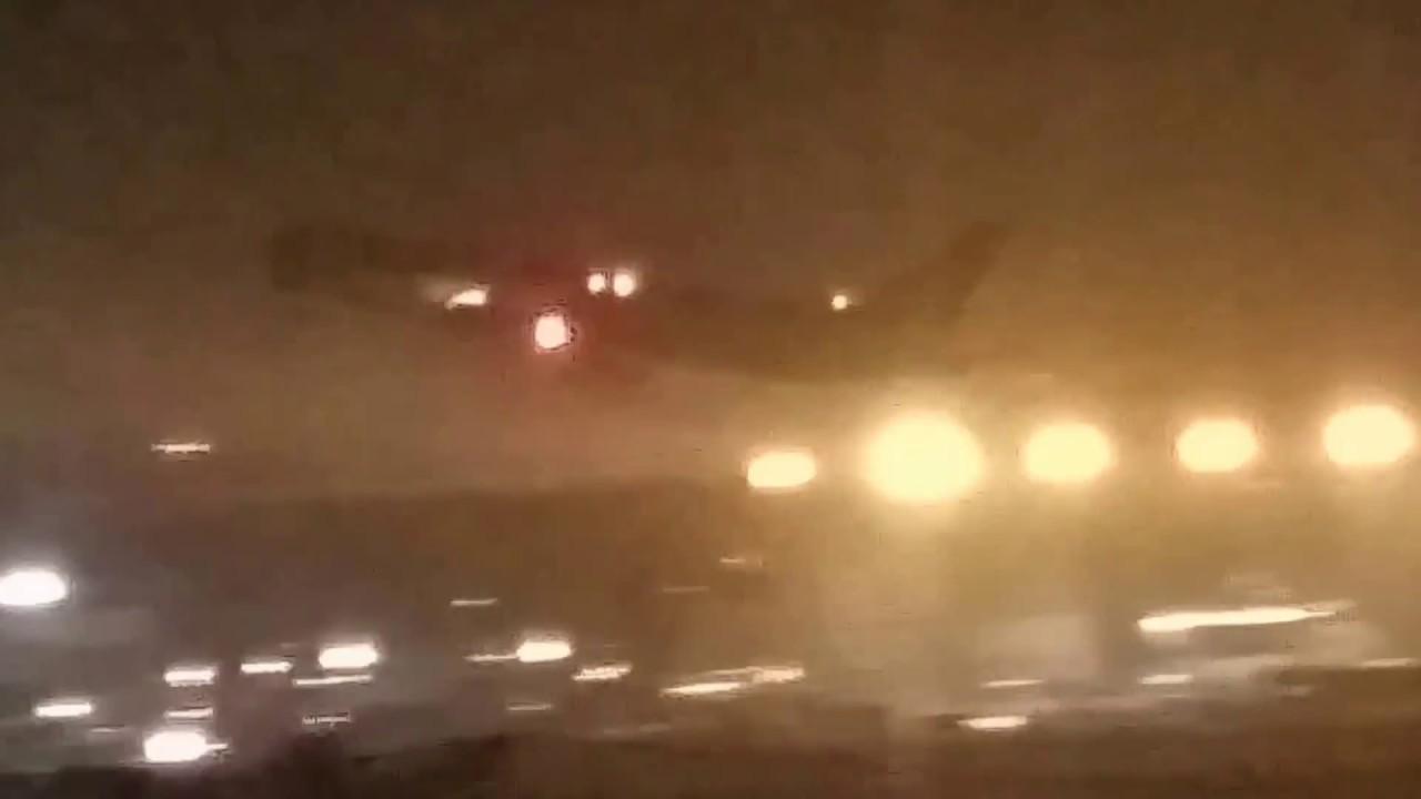 NIGHT TAKEOFF: ABX DHL Cargo 767-383ER BDSF (N220CY) at LAX!