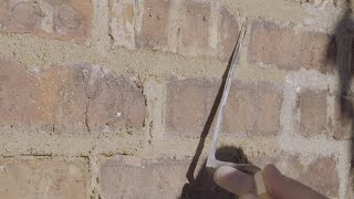 Repointing Your Vintage Masonry: Mixing & Applying Mortar
