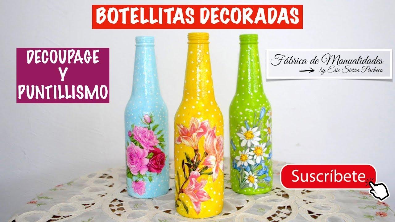 Manualidades Fáciles Botellas De Vidrio Decoradas