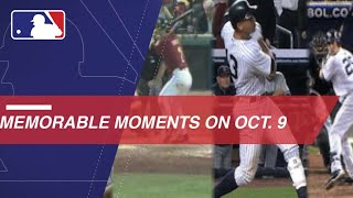 MLB's Memorable Moments on October 9
