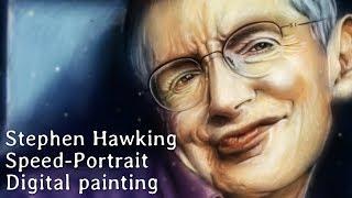 Stephen Hawking Portrait by Missfeldt