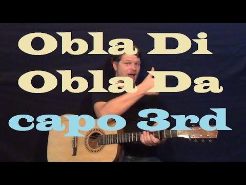 Obla Di Obla Da (The Beatles) Guitar Lesson Capo 3rd Easy Strum How to Play Tutorial Chords G C D Em