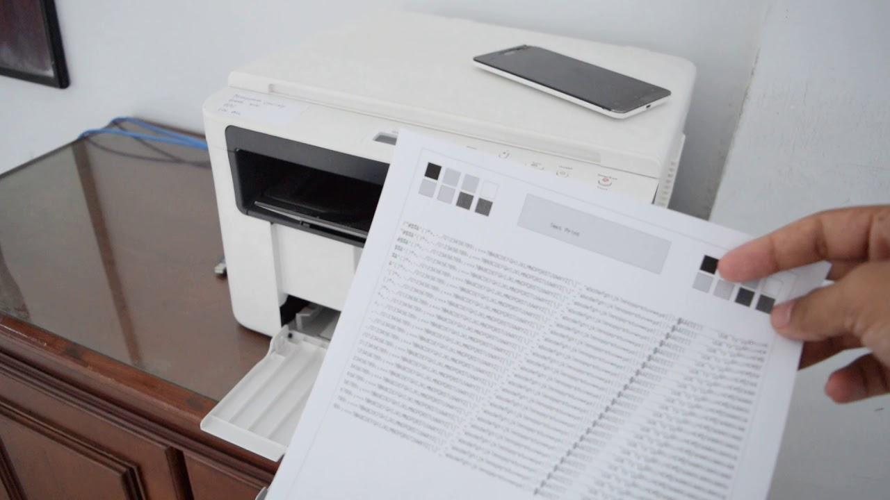 Fuji Xerox Docuprint M115 Test Print Mencetak Dengan Cepat Youtube