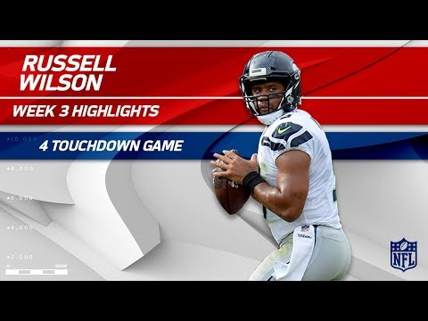 Russell Wilson's Amazing 4 TD Game vs. Tennessee | Seahawks vs. Titans | Wk 3 Player Highlights