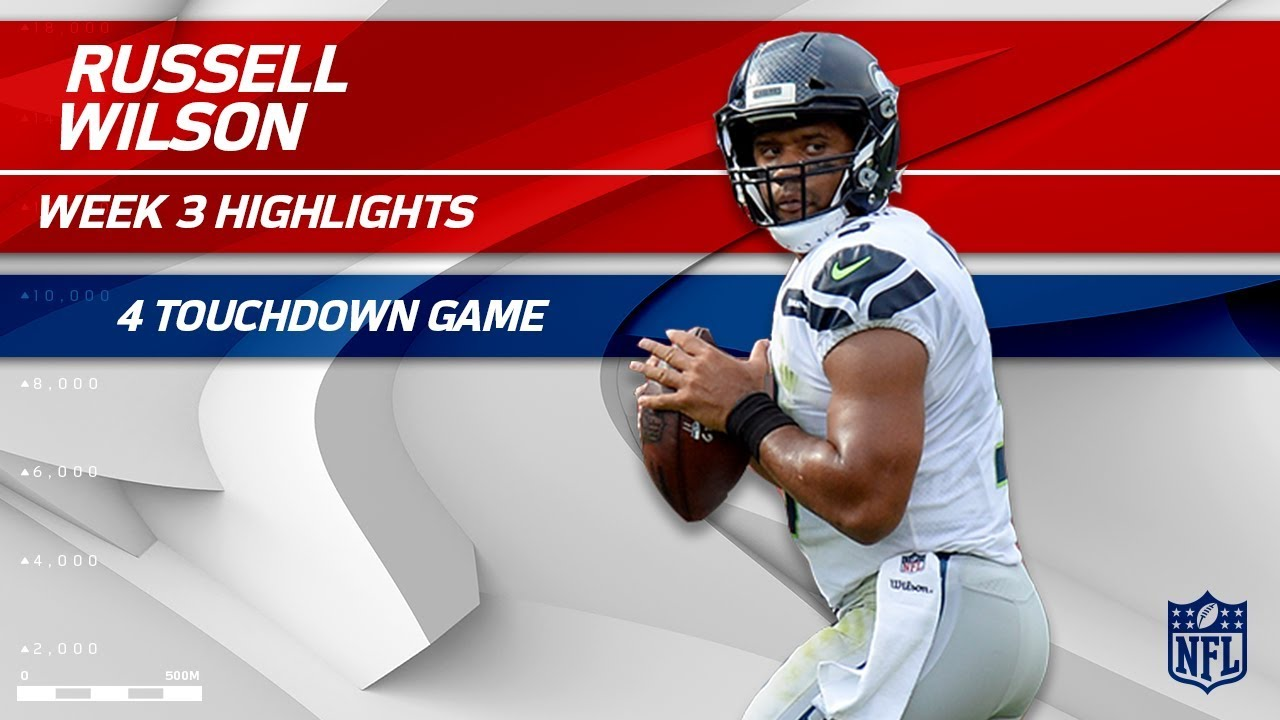 best sneakers 6c12c f0a08 Russell Wilson's Amazing 4 TD Game vs. Tennessee | Seahawks vs. Titans | Wk  3 Player Highlights