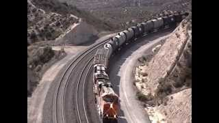 MUST SEE!!!!!  Three Train Race / Four Train Meet at Cajon Pass! - 7/26/14
