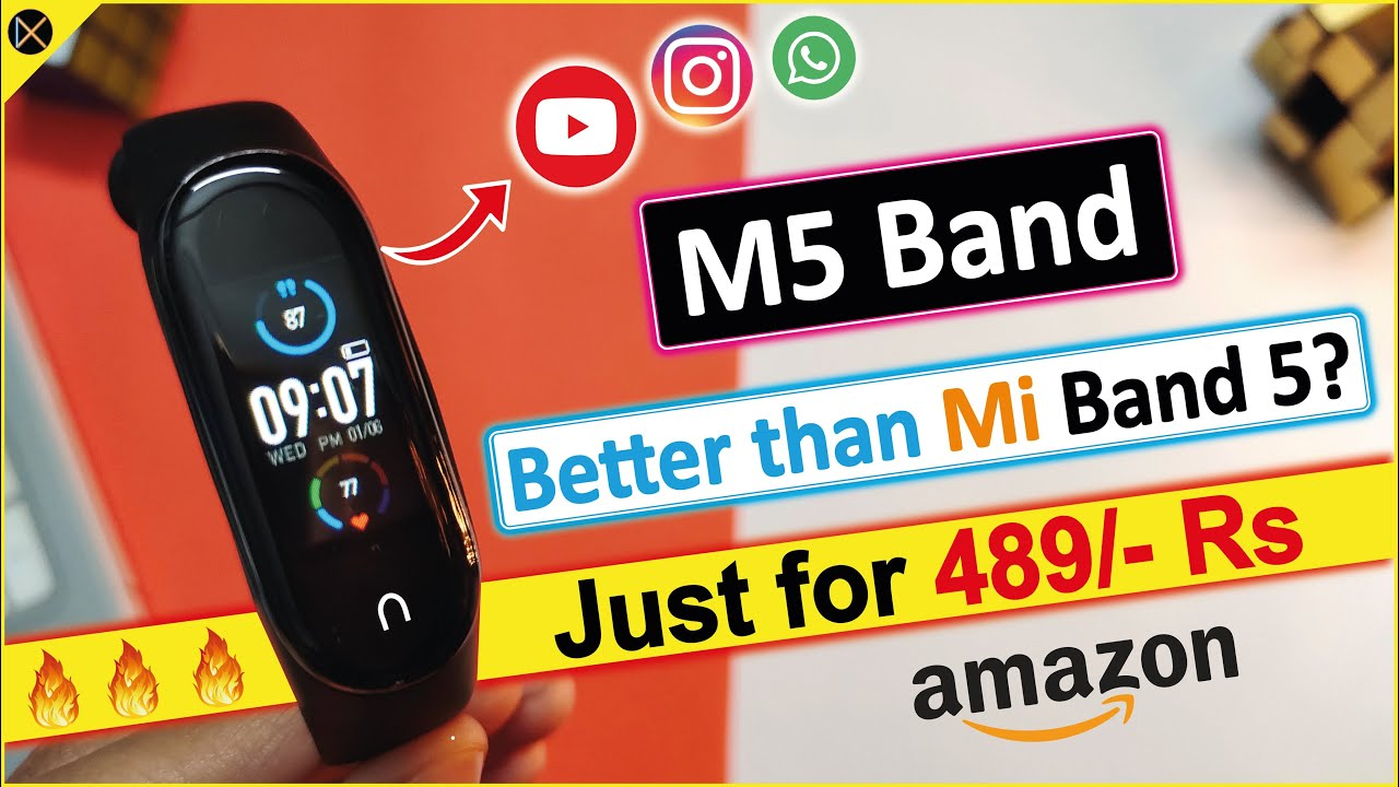 Download M5 Band only at 489/- Rs 🔥 || Better than Mi Band 5?? || Lets Find out....!!