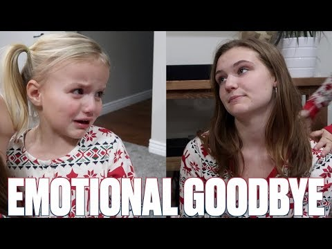 BABY SISTER CAN'T UNDERSTAND WHY BIG SISTER HAS TO LEAVE | EMOTIONAL GOODBYE