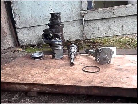 Принцип работы рулевого редуктора с гидроусилителем на примере Сагинав ГМТ (Saginaw GMT).