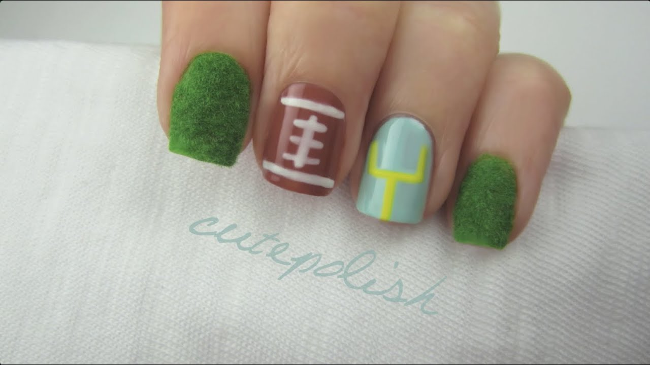 Fuzzy Super Bowl Nails Youtube