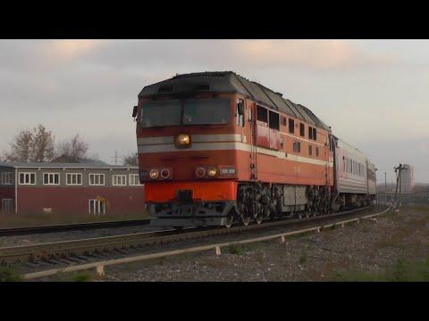 ТЭП70-0550 с поездом 122 Владикавказ-СПб, ст. Тула-3-Вяземская