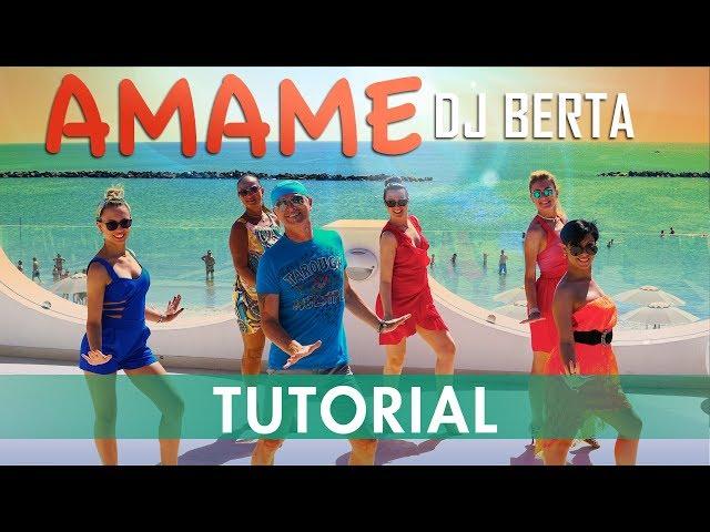 AMAME - Merengue -  TUTORIAL - Dj Berta - Spiegazione dei passi - Balli di gruppo line dance 2019