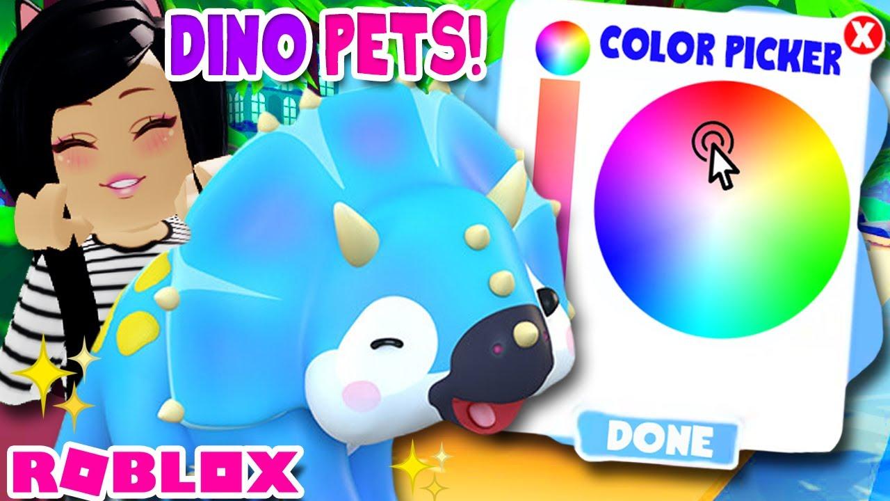 New Dinosaur Pets Color Wheel Design Roblox Overlook Bay Youtube