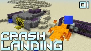 """Minecraft Crash Landing 01 - """"In Dust We Trust"""" (Modded Minecraft)"""
